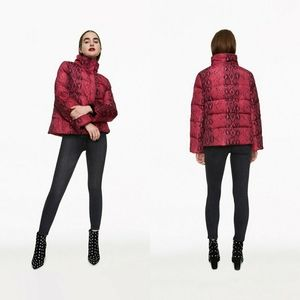 Betsy's Best Puffer Jacket - Pink Python